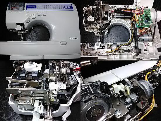 ブラザーイノヴィスS55のミシン修理分解画像