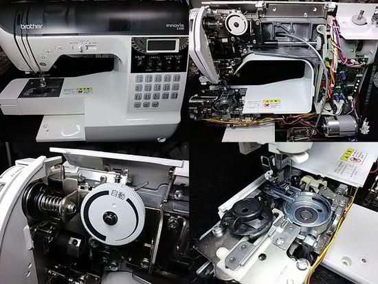 ブラザーイノヴィスS500のミシン修理分解画像