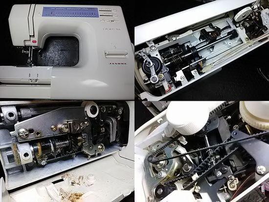 ジャノメプレール918のミシン修理分解画像