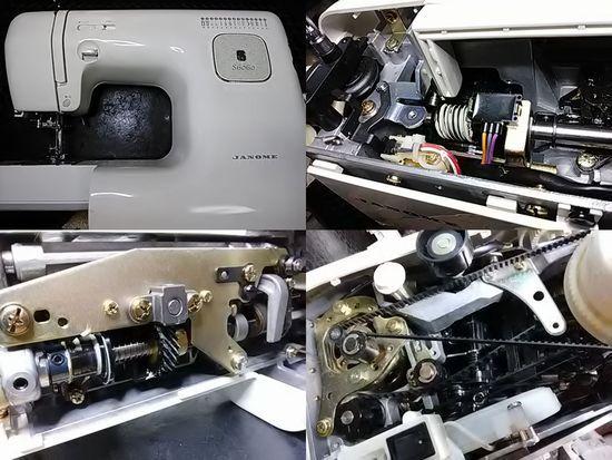 ジャノメS6060のミシン修理分解画像