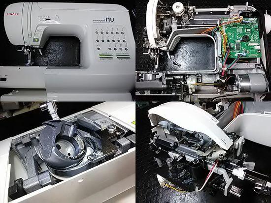 シンガーモナミヌウSC-107のミシン修理分解画像