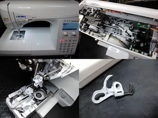 JUKIクライムキF550-Jのミシン修理分解画像