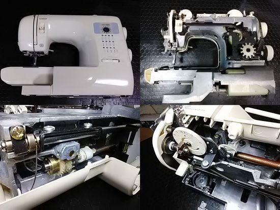ブラザーGX-500のミシン修理分解画像