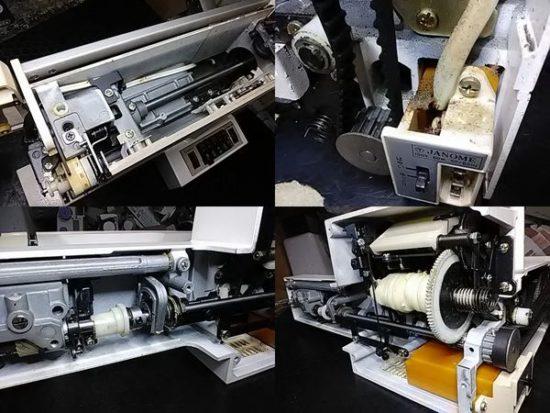 ジャノメエクセル20のミシン修理分解画像