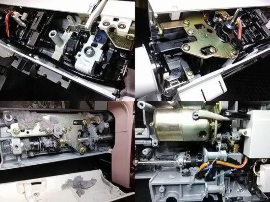 ジャノメCombi2300SXのミシン修理分解画像