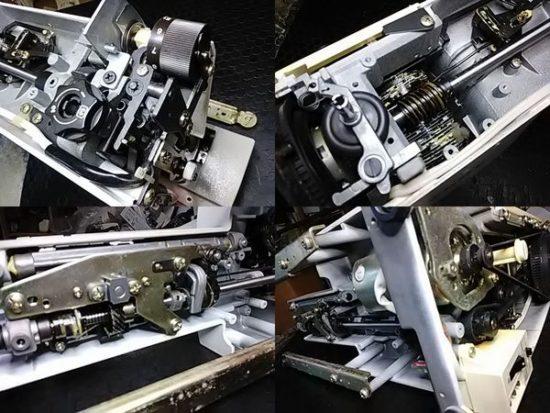 ジャノメエクセル18のミシン修理分解画像