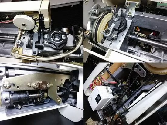 ジャノメメモリークラフト5400のミシン修理分解画像