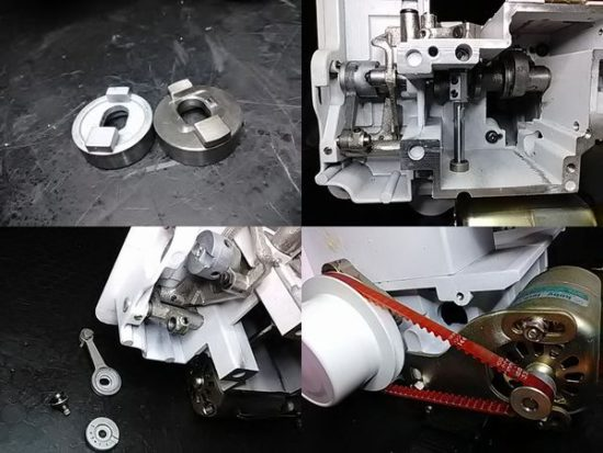 BL2-202のミシン修理分解画像