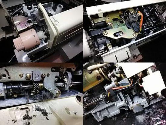 ジャノメコンビ2300SXのミシン修理分解画像