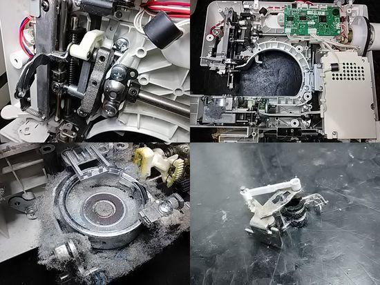 ブラザーS51-PWのミシン修理分解画像