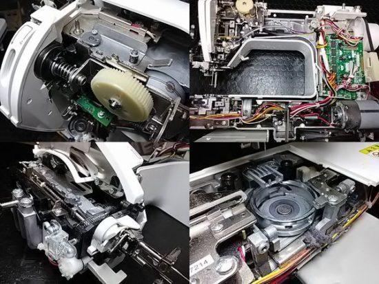 ブラザーEMU1901のミシン修理分解画像