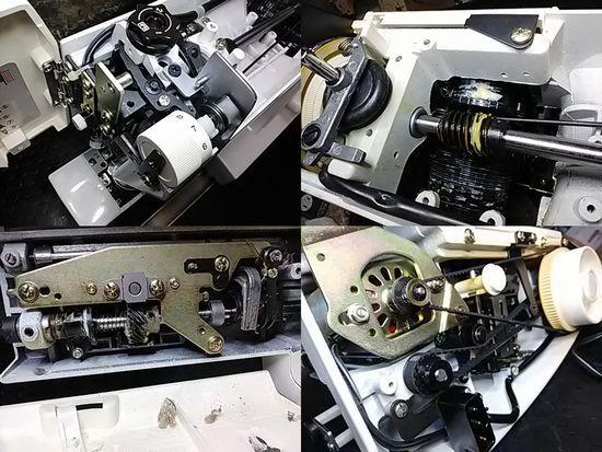 ジャノメミシン修理S1000の分解画像