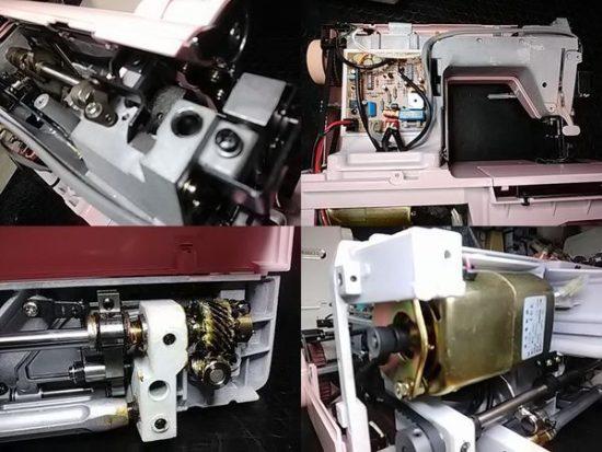 シンガーmonamiSuperEX1791のミシン修理分解画像