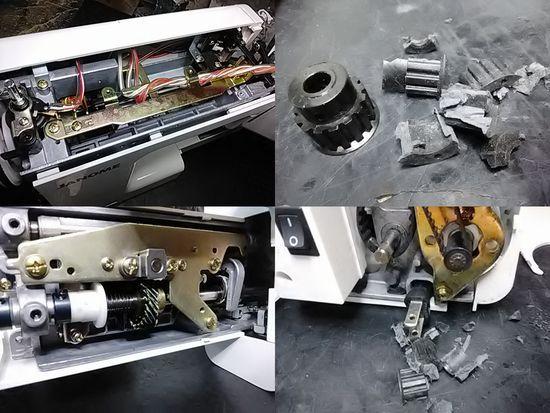 ジャノメS7800のミシン修理分解画像