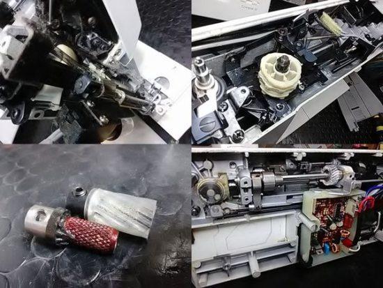 シンガー1680Uのミシン修理分解画像