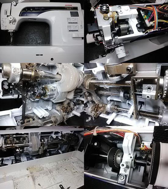 ジャノメコスチューラ800DBのミシン修理分解画像