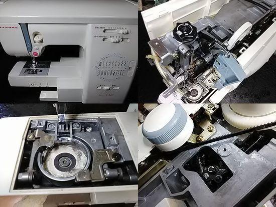 ジャノメエクール940のミシン修理分解画像