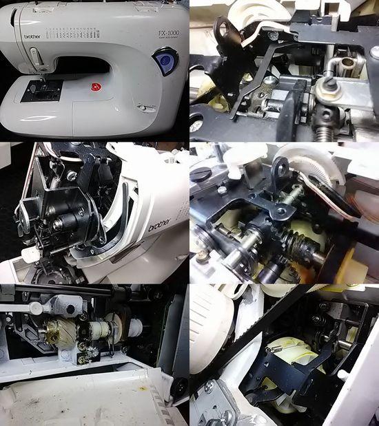 ブラザーFX-1000のミシン修理分解画像