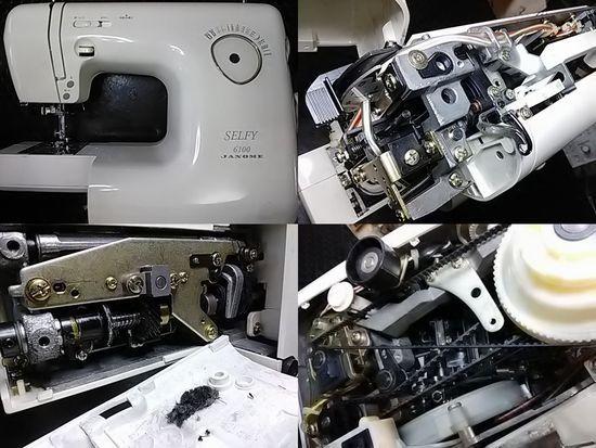 ジャノメSelfy6100のミシン修理分解画像